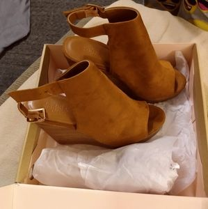Charlotte Russe Hadlee Wedge Sandals